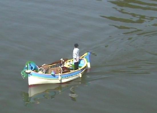 Le pointu de Thierry sur le lac de Bulgnéville